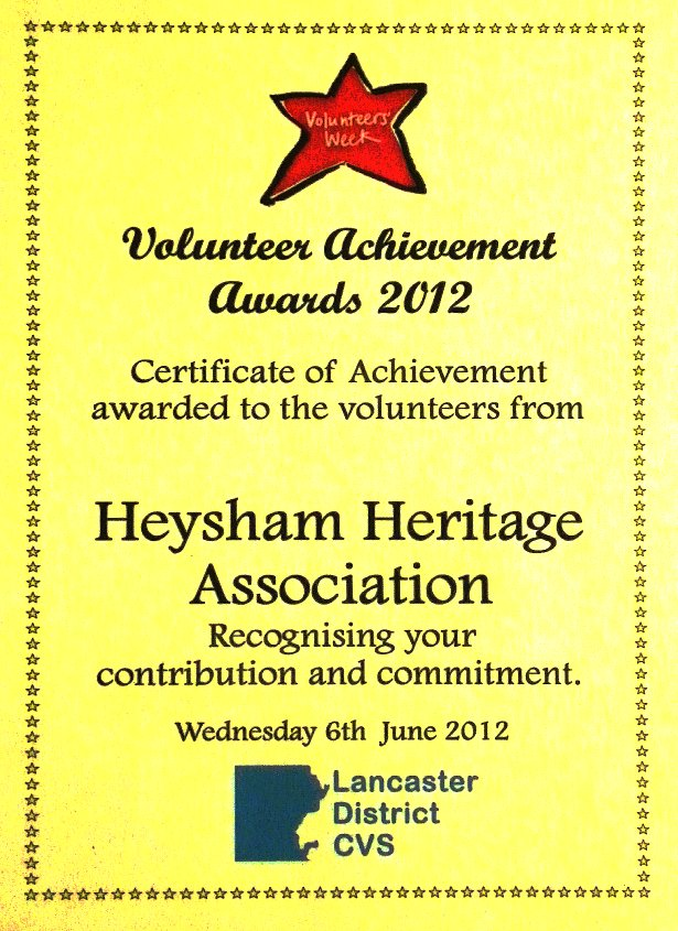 Volunteer award 2010